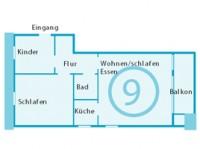 Haus Isabel Grundriss App.9 - Bild 6: Appartement 9 Haus Isabel an der Nordsee Büsum