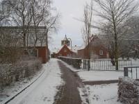 Winter in Pilsum, Blick auf die Kreuzkirche - Bild 12: Ferienwohnung in Pilsum an der Nordsee bei Familie Smid