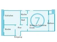 Haus Isabel Grundriss App.7 - Bild 9: Appartement 7 Haus Isabel an der Nordsee Büsum