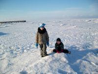 """2010 als der Bodden zugefroren war .... - Bild 9: Ferienwohnung OG *** / Pension """"Villa Erika"""" im Seebad Lubmin * Ostsee"""