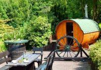 Fass-Sauna im Garten Ferienhaus Stift Ennenbach - Bild 15: Stift Ennenbach - idyllisch gelegenes Ferienhaus