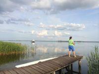 Angeln auf dem Wassergrundstück mit Bootssteg und Ruderboot - Bild 9: Ostseeferien mit Hund - Wassergrundstück Piratennest Darss
