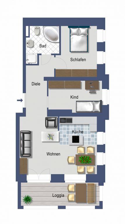 bildergalerie ferienwohnung 392 palais am park ostseebad. Black Bedroom Furniture Sets. Home Design Ideas