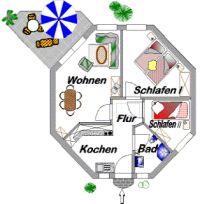 Bild 3: Ferienhaus Strolchi, Achteckreihenbungalow mit Hund erlaubt