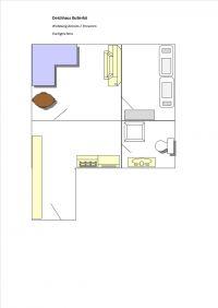 Bild 9: Kleine Ferienwohnung im Dachgeschoss, am Deich gelegen für 2 Personen