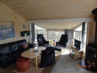 Wohnzimmer mit Hochwertigen Möbeln,Flachbildfernseher und Brennofen - Bild 6: Ferienhaus in Lökken/Furreby
