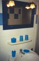 Bad mit Dusche und WC und Waschmaschine - Bild 3: FeWo Rübennest 3a Erdgeschoss für max. 4 Personen, Hunde willkommen