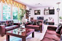 Teilansicht des Wohnzimmers mit leder Sitze fur 7 Gäste - Bild 6: Sehr schönes Ferienhaus, jetzt € 50,- Rabatt jedes Wochenende bis Mai