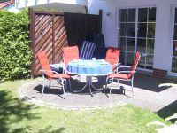 Die Terrasse ist nach Westen ausgerichtet. - Bild 15: Ostsee Fewo Zingst - strandnah + zentrumsnah