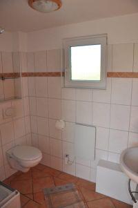 Badezimmer mit WC und Duschkabine - Bild 3: Ferienhaus Wiebers am Hohenfelder Ostseestrand ( 150 m )