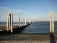 """Von hier geht es zur Insel Baltrum. - Bild 15: Ferienhaus """"Kristina"""" an der ostfriesischen Nordseeküste - Hunde erlaubt"""