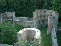 Die Ruine der Kürnburg befindet sich ca. 500 m oberhalb des Ferienparks im Wald und hat eine schöne Aussichtsplattform. - Bild 18: Urlaub im Blockhaus - Ruhe und Natur für Mensch und Hund
