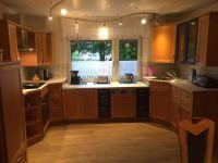 7,5m Einbauküche mit Heißluftherd - Bild 3: Ferienhaus Arnolde mit Hund Nordsee Ostfriesl. Gr.EingezGartenAlleinnutzung