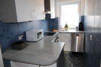 neue Einbauküche mit neuen Elektrogeräten und Kühlschrank, Mikrowelle Spülmaschine - Bild 15: Wellness für Familie und Hund Ferienhaus an Ostsee und Schlei