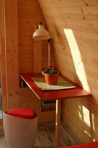 """Bild 3: Ferienhaus - Camping Pod 1 """"Apfelhäusle"""" auf dem Burgstallhof"""