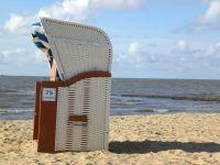 direkt am Sandstrand, stellen wir Ihnen einen kostenlosen Strandkorb zur Verfügung - Bild 15: FeWo Möwenkoje Strandlage Cuxhaven Duhnen Hunde & Kinder willkommen