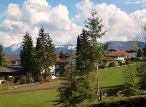 Ferienwohnung im Allgäu mit Bergsicht zwischen Bodensee und Neuschwanstein