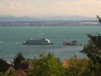 Schiff der Bodenseeflotte beim Anlegen - Bild 3: Ferienwohnung Fam. Mehl - mit Panorama-See- und Alpenblick -
