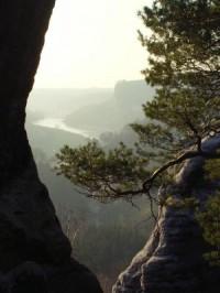 Blick vom Gamrig ins Elbtal - Bild 12: Ferienwohnung in Bad Schandau Elbsandsteingebirge