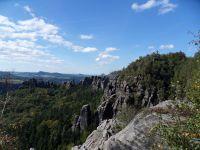 Blick von den Schrammsteinen - Bild 6: Ferienwohnung in Bad Schandau Elbsandsteingebirge